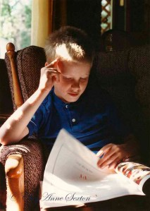 he was always reading