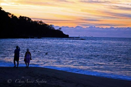 evening walk along Lo de Marcos, Mexico