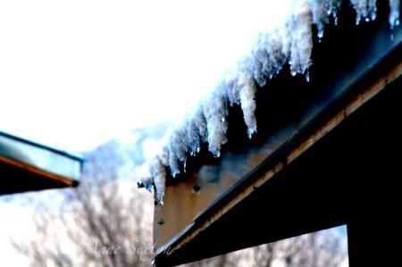 snow overhang