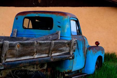 blue n rusty chevy