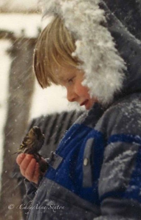 Jacob with a sisken bird