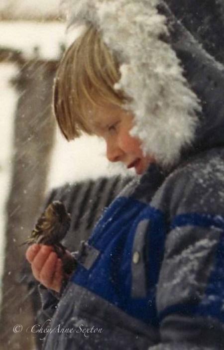 Jacob with a sisken bird