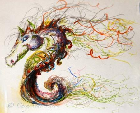 watercolor seapony