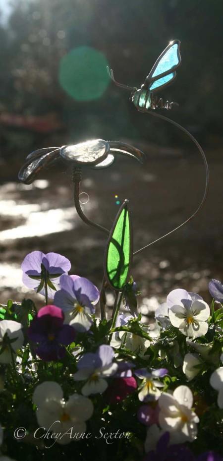 Cyan, Turquoise Butterfly Art