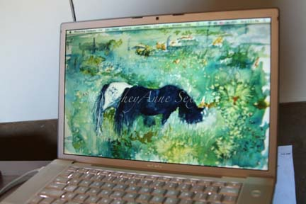 """Ponies in the Meadow"" on my mac"