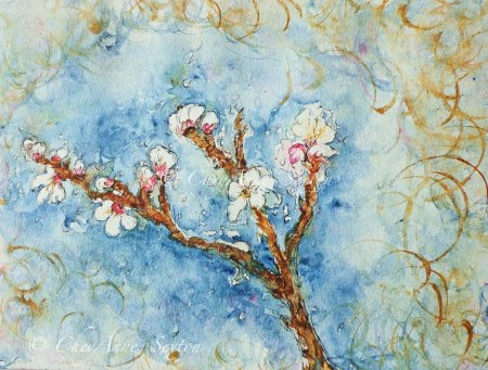 'Plum Blossom' watercolor on Paper 9x12