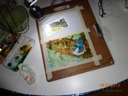 from my painting table Pigmy Nuthatch of New Mexico