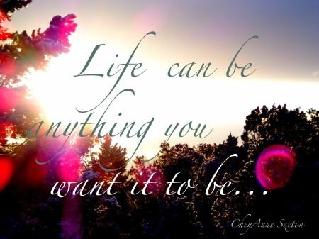 LifeCanBeAnyThingYouWantItToBe by CheyAnne Sexton