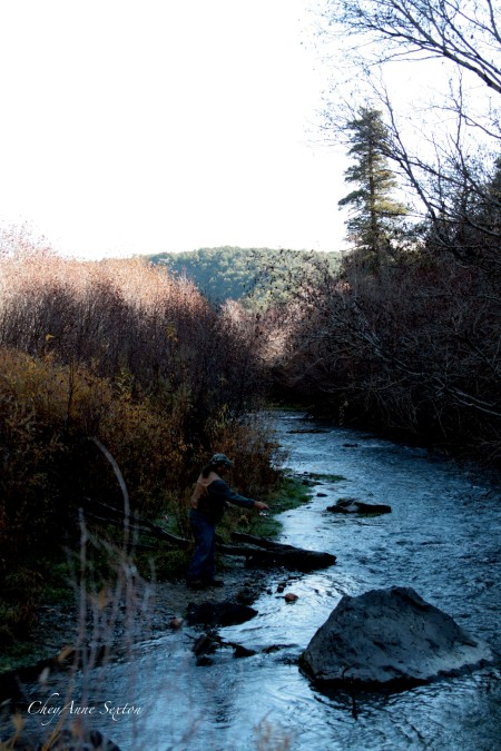 fishin' early morn' on the Red River, NM by CheyAnne Sexton