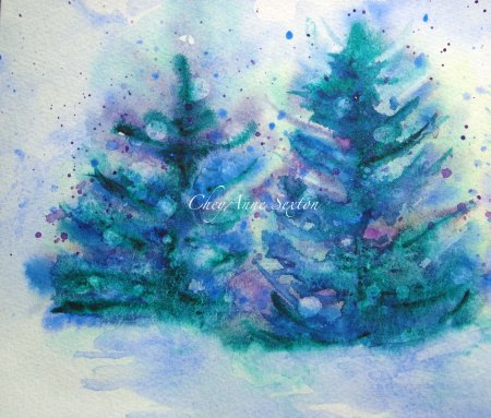 Snowy Winter Tree Landscape by CheyAnne Sexton
