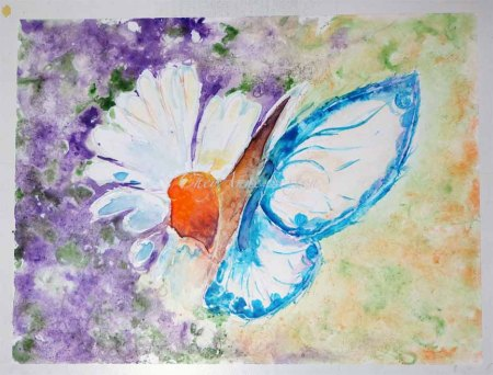 11th watercolour - 1st ButterFly on Yupo by CheyAnne Sexton