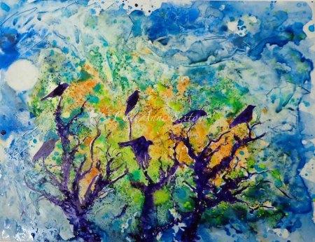 6 Crows in a Dead Tree