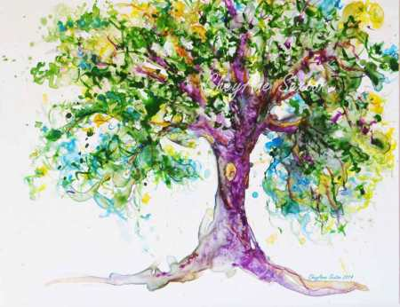 My Purple WaterColour Tree